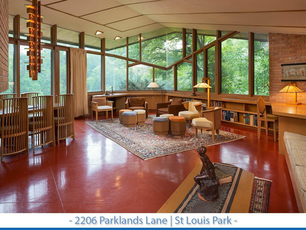 Frank Lloyd Wright designed home for sale in St Louis Park, Minnesota.