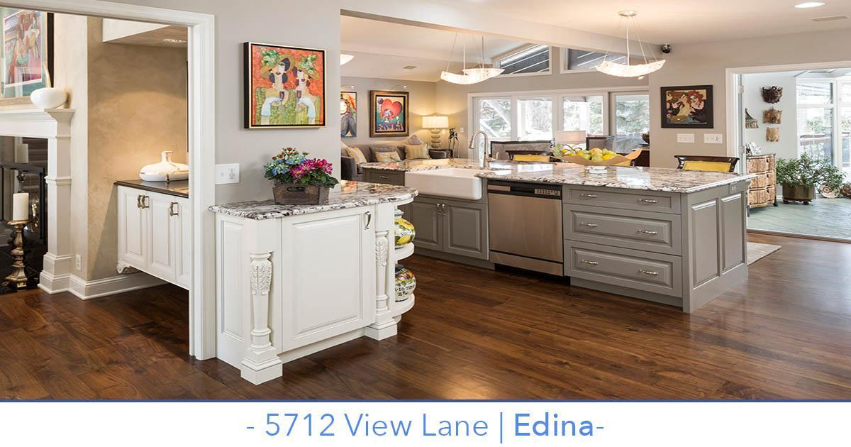 Stunning Edina home for sale with large kitchen and home movie theater.