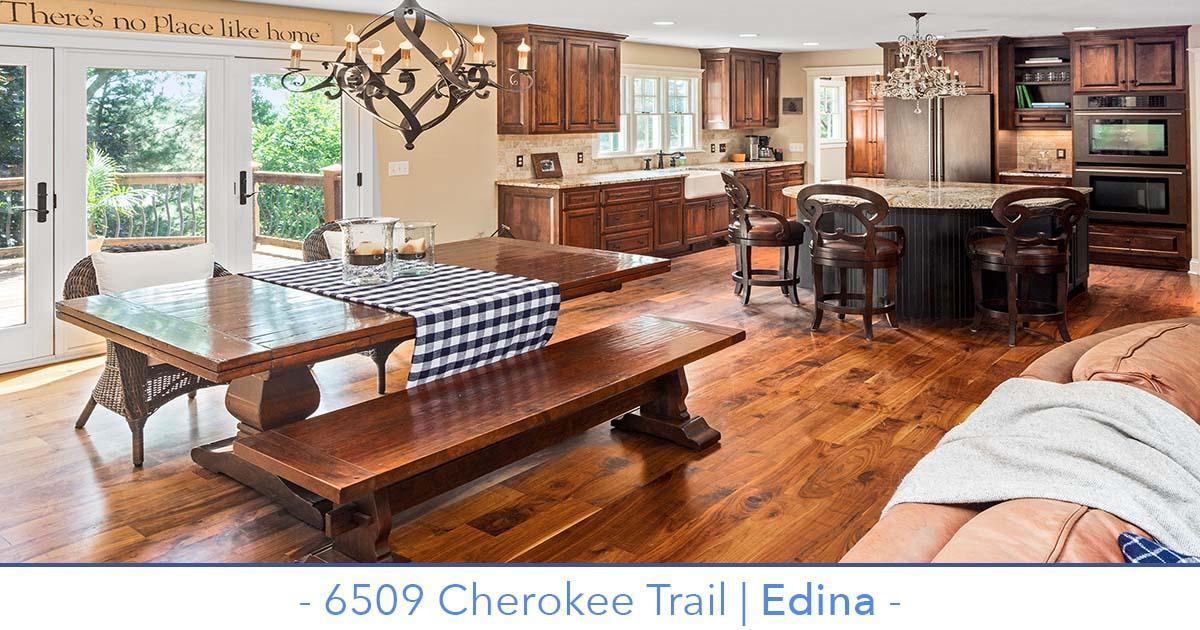 Beautifully remodeled Edina home for sale with private lot.