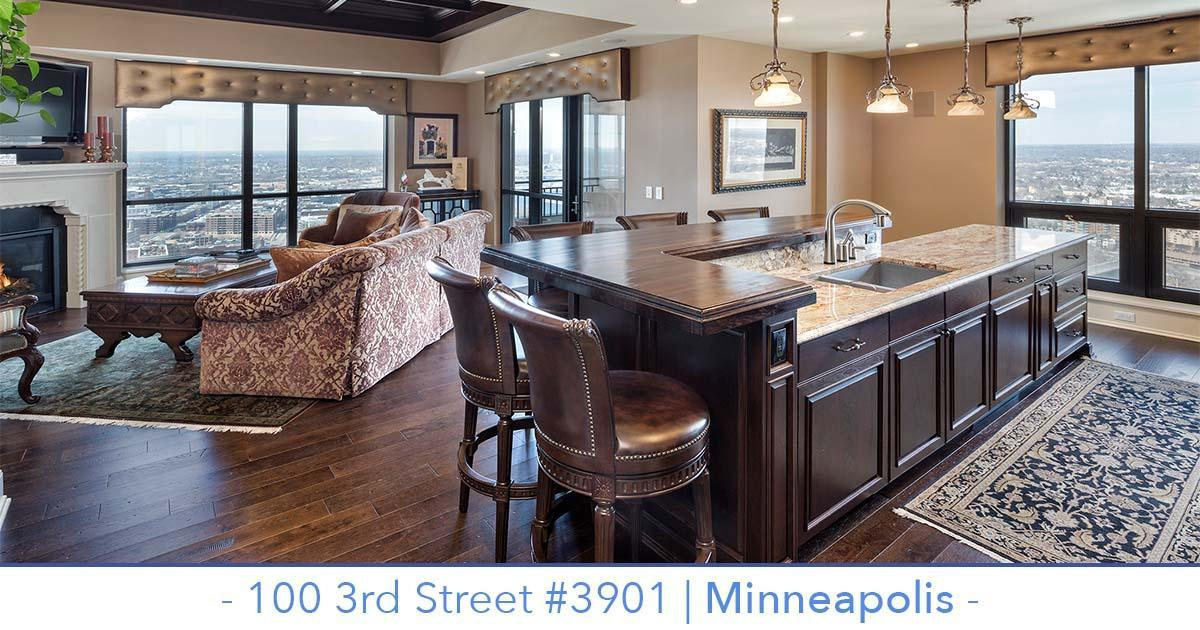 Carlyle condo building penthouse for sale with sweeping views of Minneapolis.